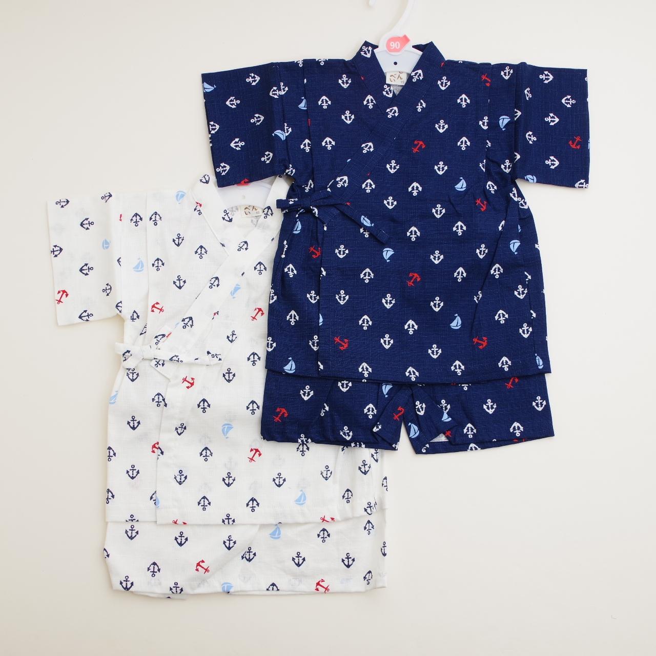 日本製 甚平スーツ 祭り 男の子 イカリ 90cm/95cm(720907)