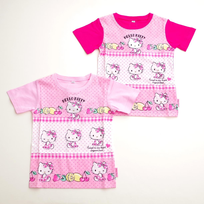 ハローキティ  半袖Tシャツ 100cm-130cm (742KT0011)
