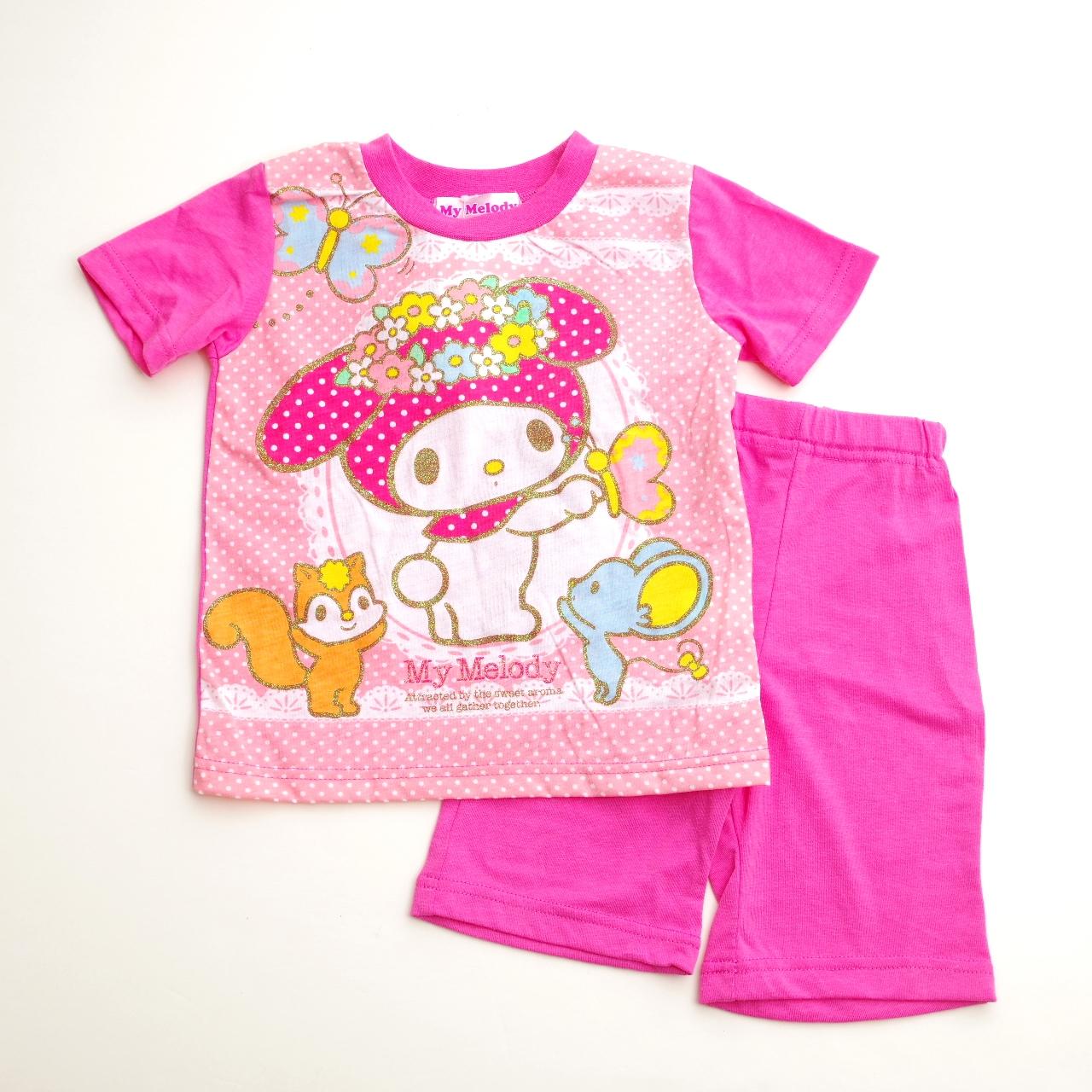 サンリオマイメロディ 半袖Tシャツ生地のパジャマ  100-130cm(732MM007112)