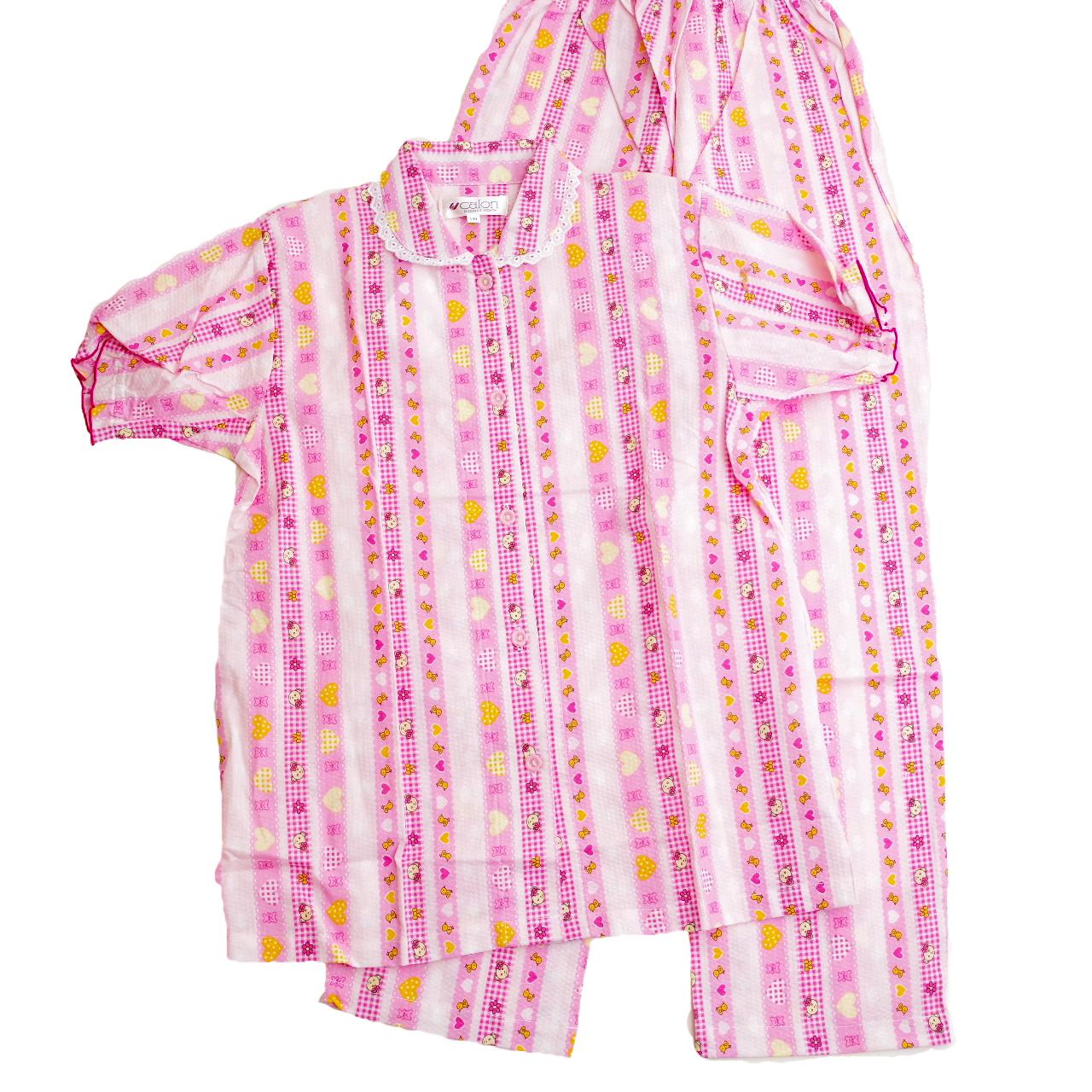 女児 半袖パジャマ 綿100% ジュニア 130cm(241713)