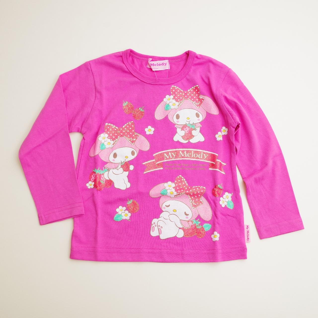 サンリオ マイメロディ 長袖Tシャツ 100cm-130cm(743MM4011)