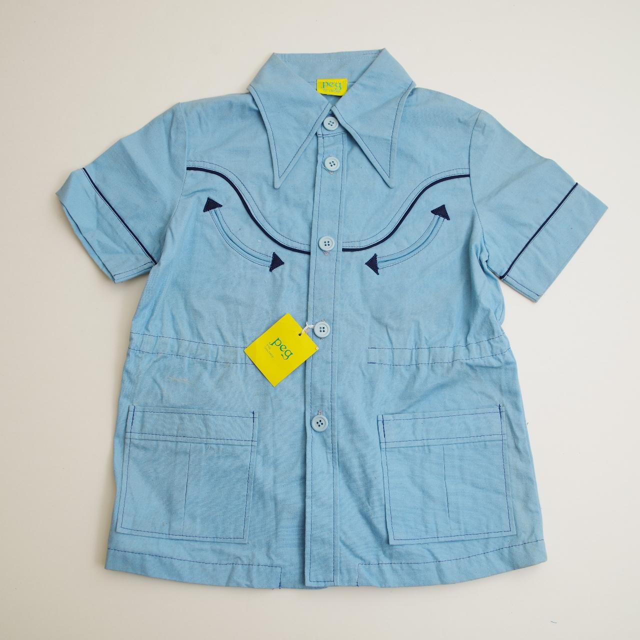 日本製 フクスケ PEGの襟付き半袖ジャケット 7-8才(120cm) (1708-6834)