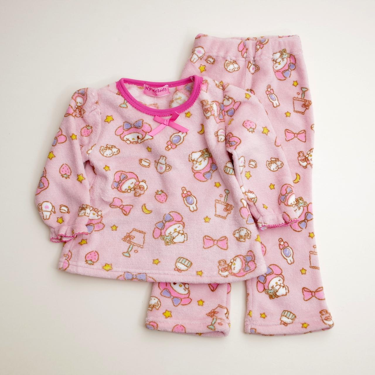 サンリオマイメロディ  もこもこ長袖パジャマ 100-130cm(734MM107113)