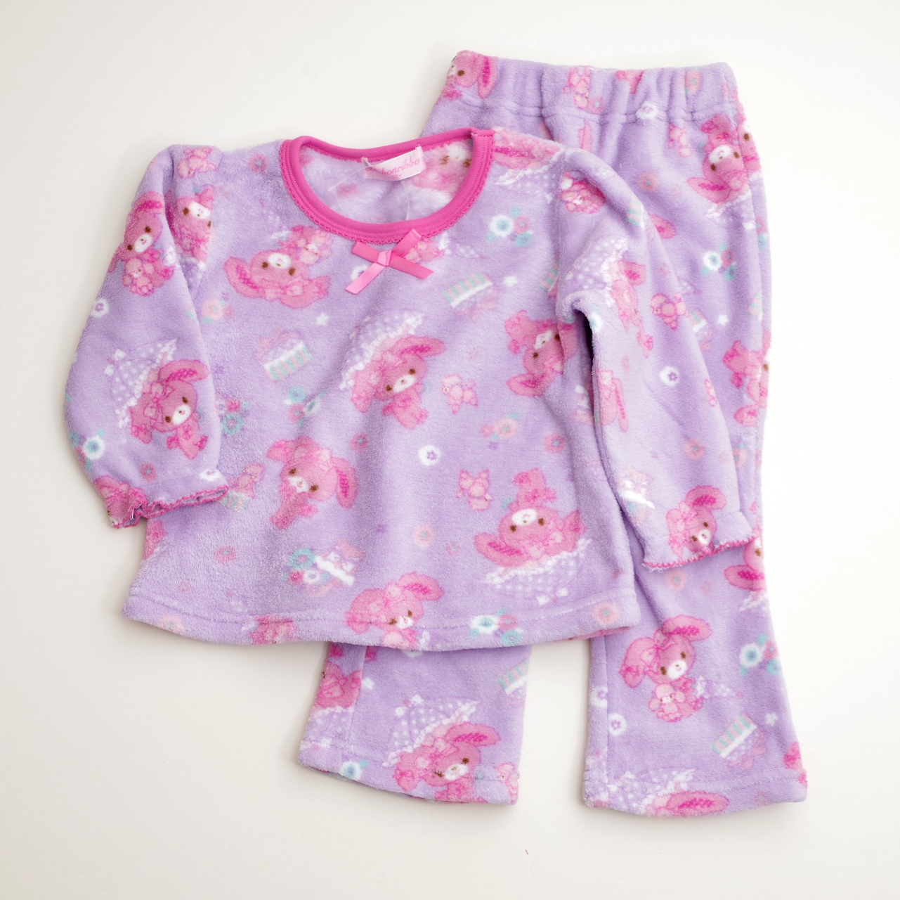 サンリオ ぼんぼんりぼん  もこもこ長袖パジャマ 100-130cm(734BO107113)