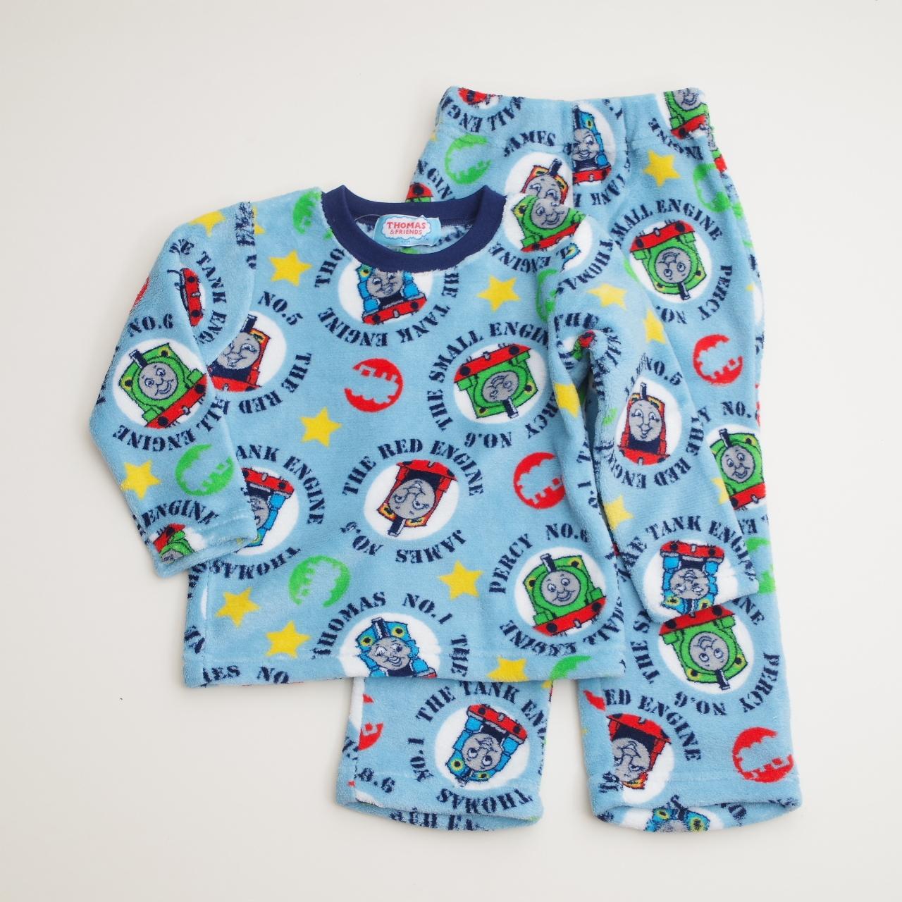 きかんしゃトーマス  もこもこ長袖パジャマ 100-120cm(734TM107113)