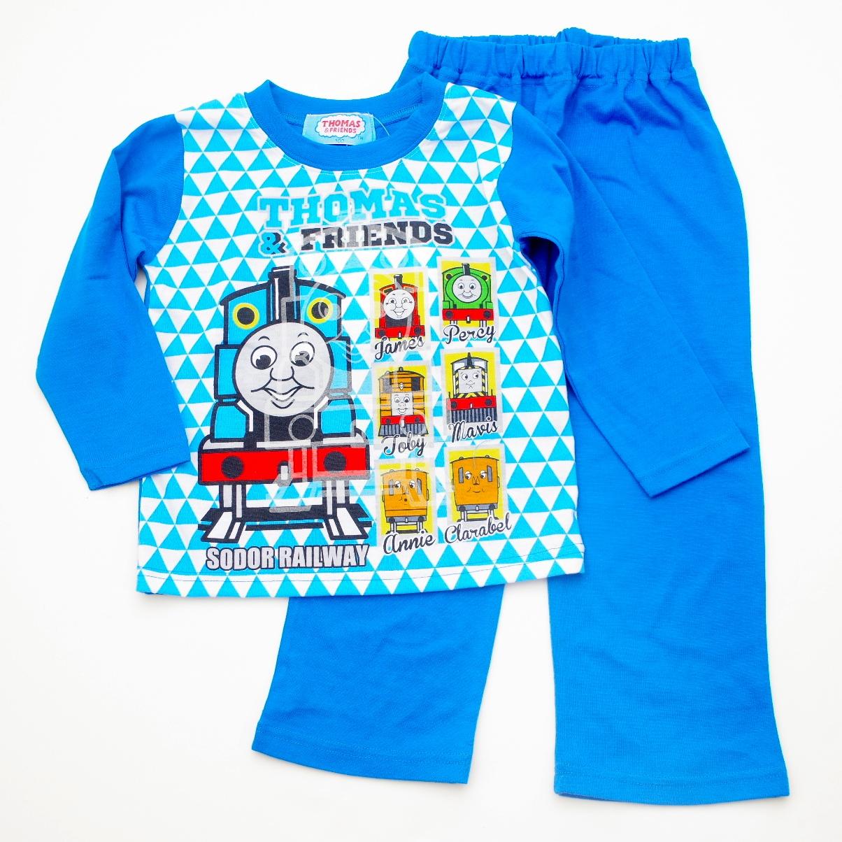 きかんしゃトーマス 光る Tシャツ生地 長袖パジャマ 蓄光 100〜120cm(831TM108112)