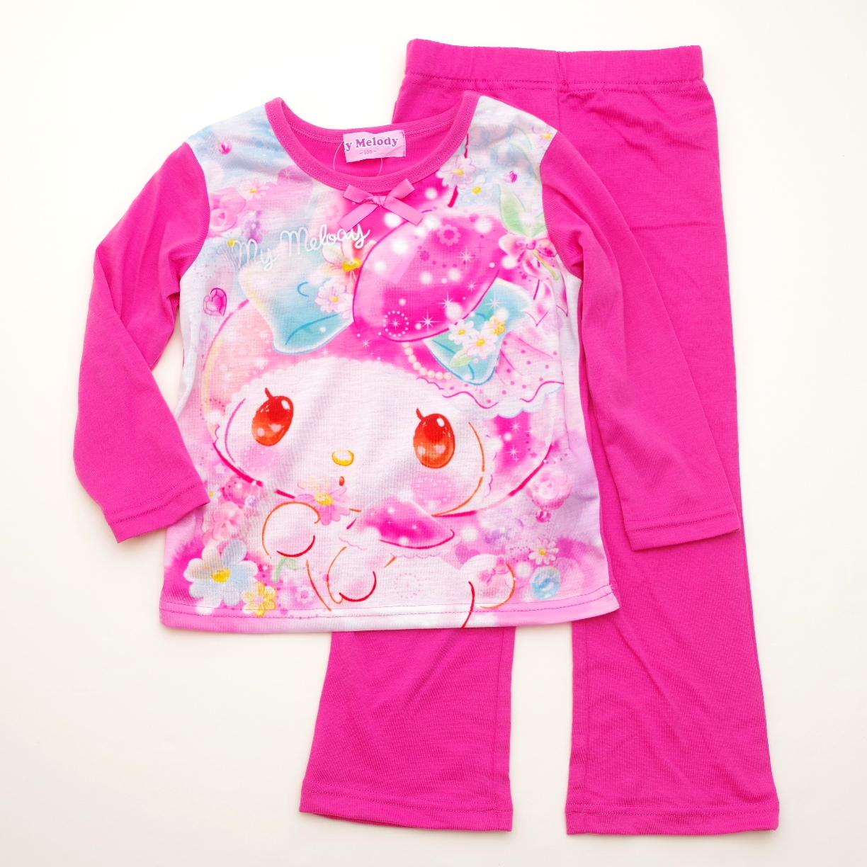 サンリオ マイメロディ Tシャツ生地の長袖パジャマ 100cm-130cm(832MM108113)