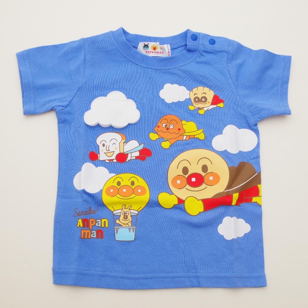 アンパンマン 半袖Tシャツ 空  90cm/95cm (TA3109)