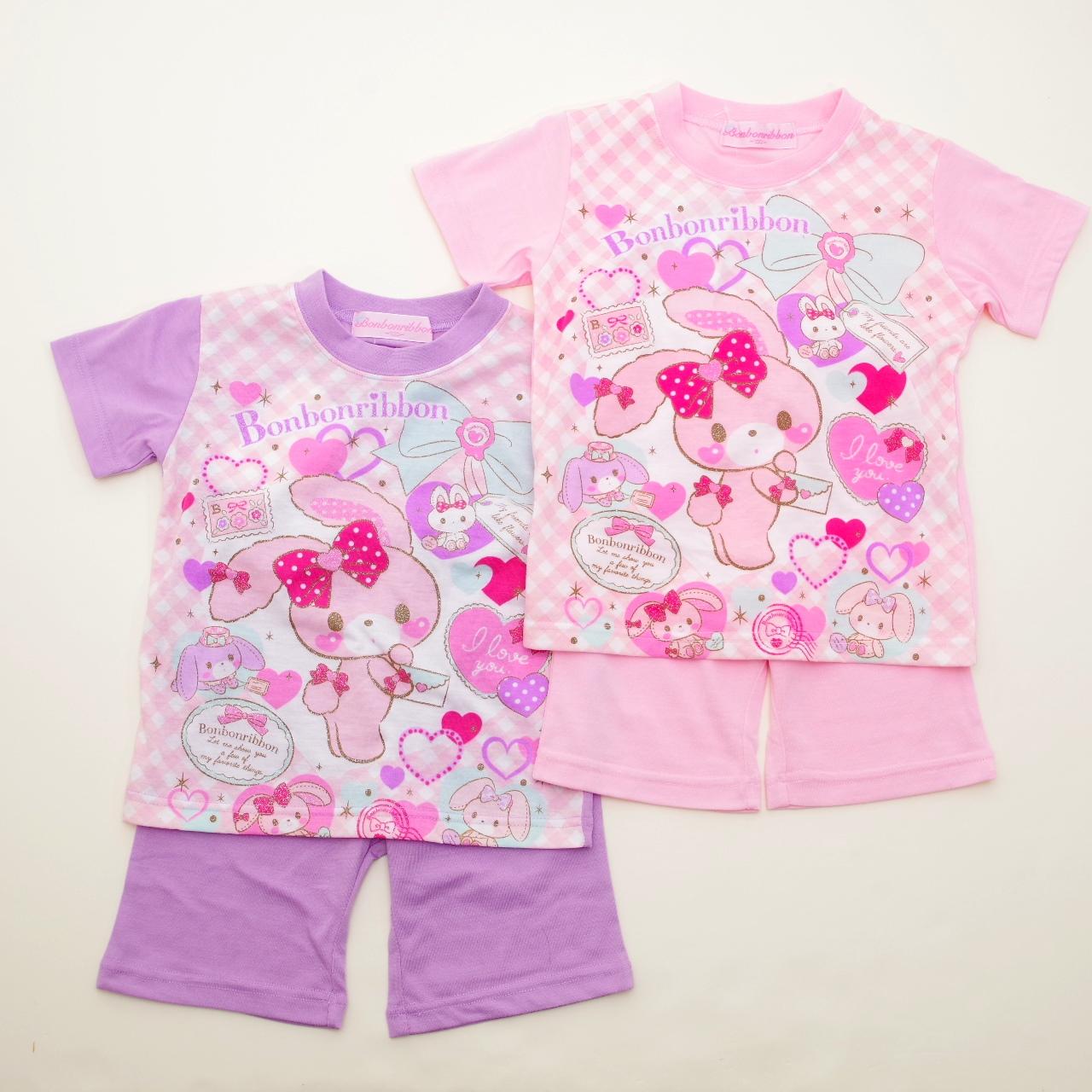 サンリオ ぼんぼんりぼん 半袖Tシャツ生地のパジャマ  100-130cm(832BO007112)