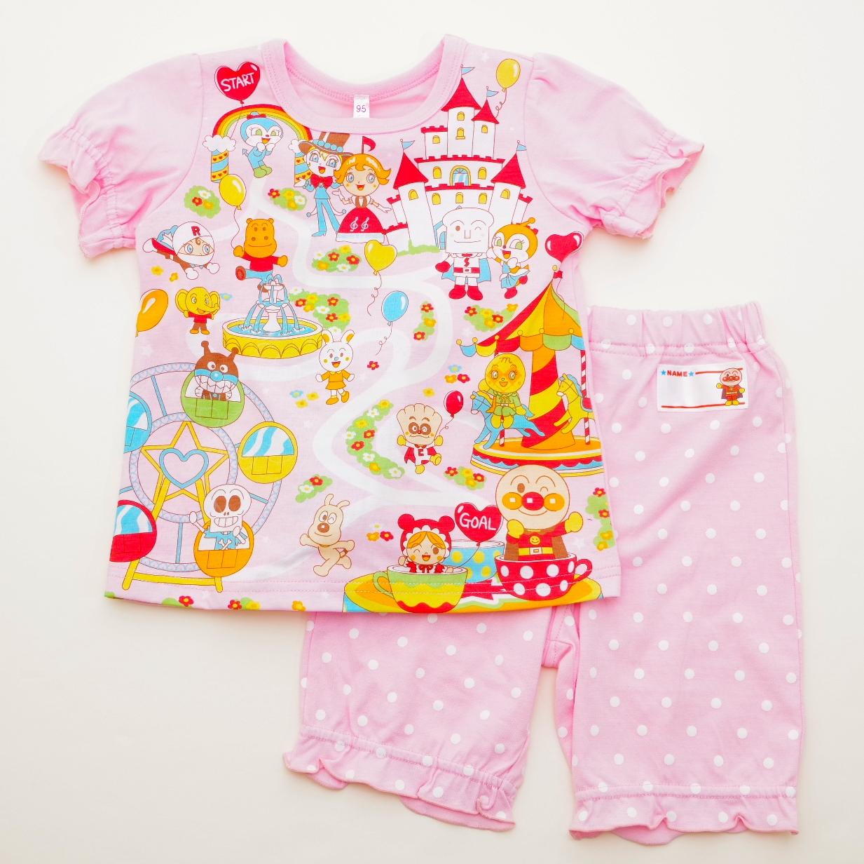 アンパンマン 女の子  光る 半袖パジャマ   (2415447A)