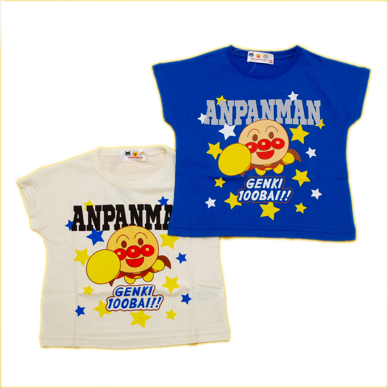 アンパンマン 半袖Tシャツ 元気  90cm-110cm (TA3131-TA9029)