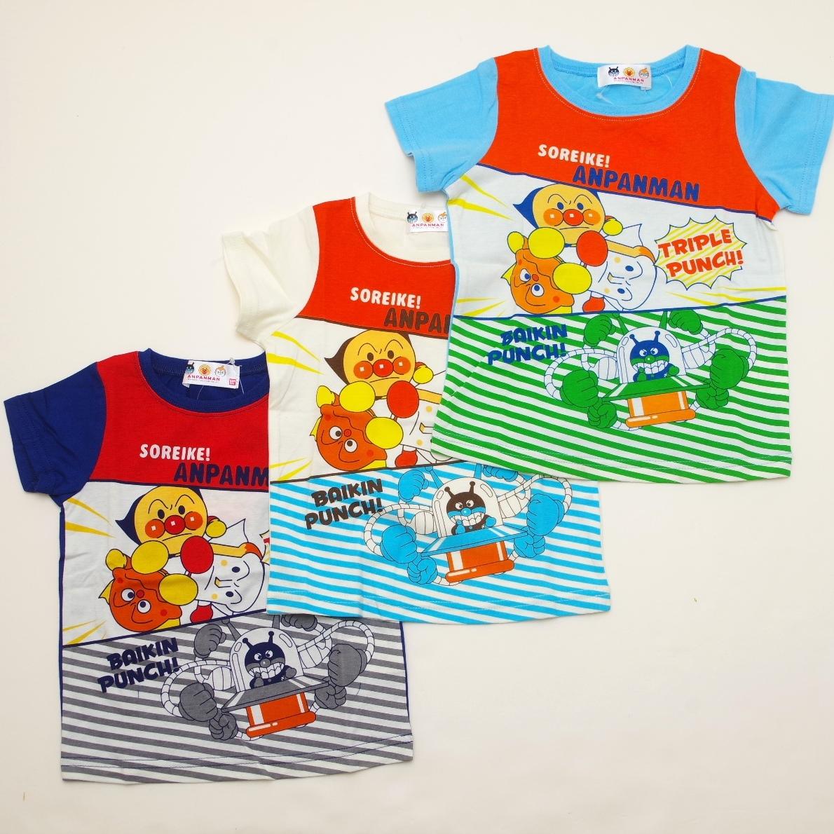 アンパンマン 半袖Tシャツ パンチ  90cm-110cm (TA3130-TA9028)