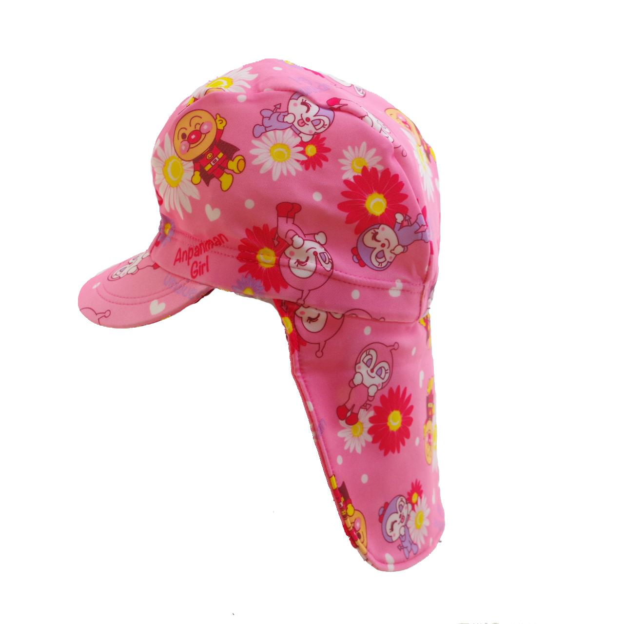 アンパンマン 水泳帽  日よけ布付 スイムキャップ 女児 (TA9831)