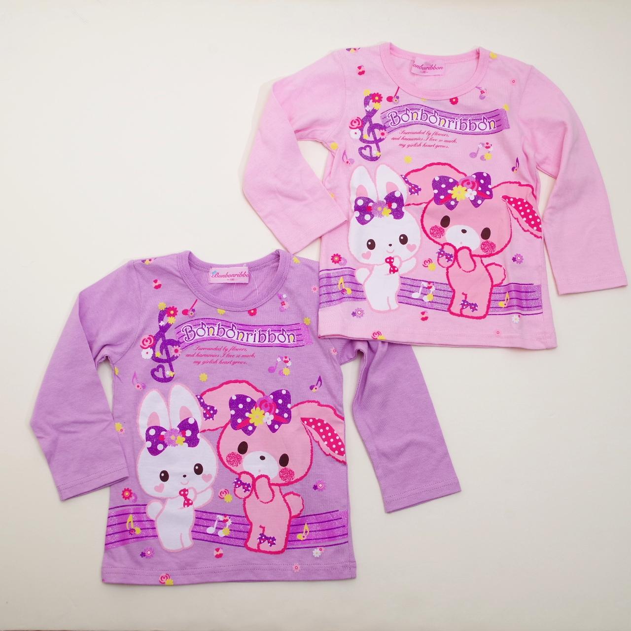 サンリオ ぼんぼんりぼん 長袖Tシャツ 100cm(643BO4011)