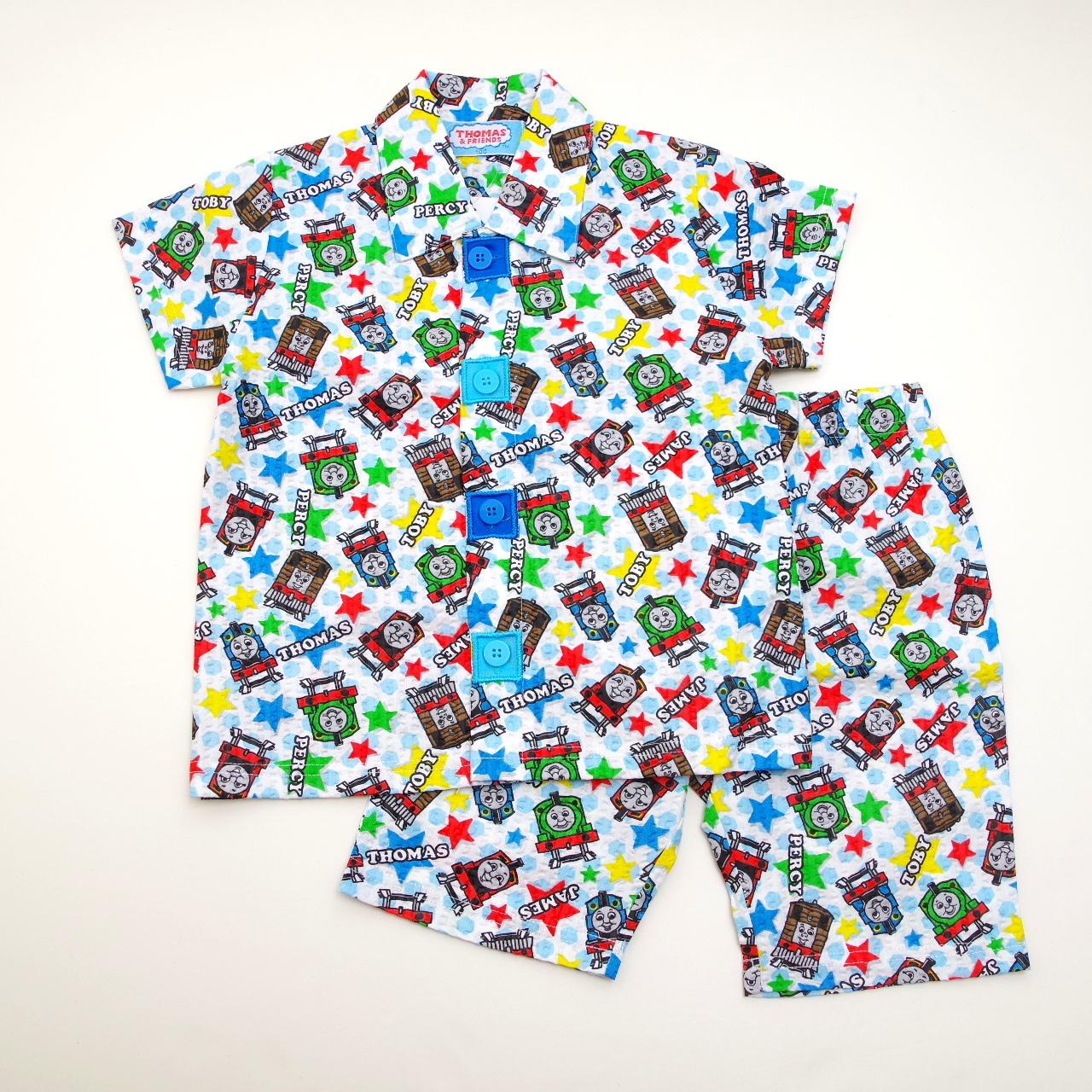 きかんしゃトーマス 半袖パジャマ  前開きボタン (832TM204113)