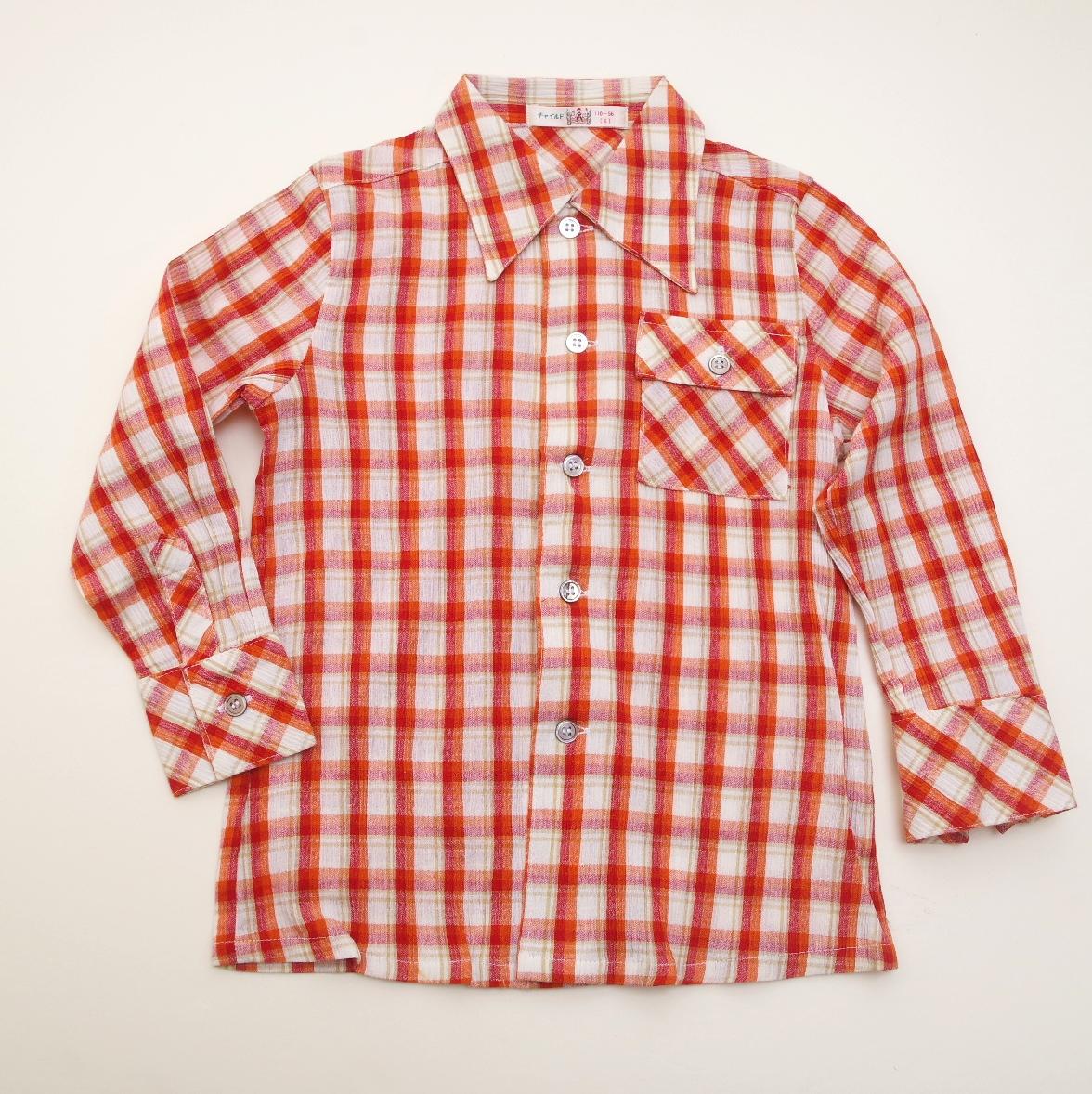 レトロ チャイルドの長袖シャツ 110cm(1805-0897)