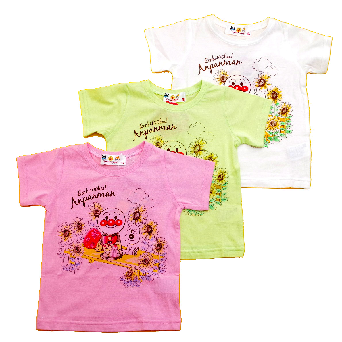 アンパンマン 半袖Tシャツ ひまわり  90cm-110cm (TA3136-TA9034)