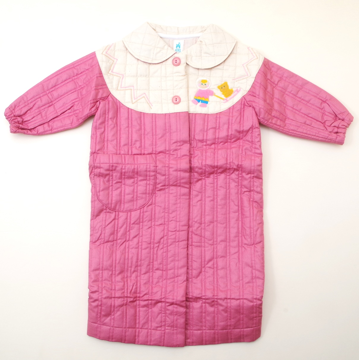 レトロ おとぎの国のキルトガウン 2才 ピンク色 (1811-1625)