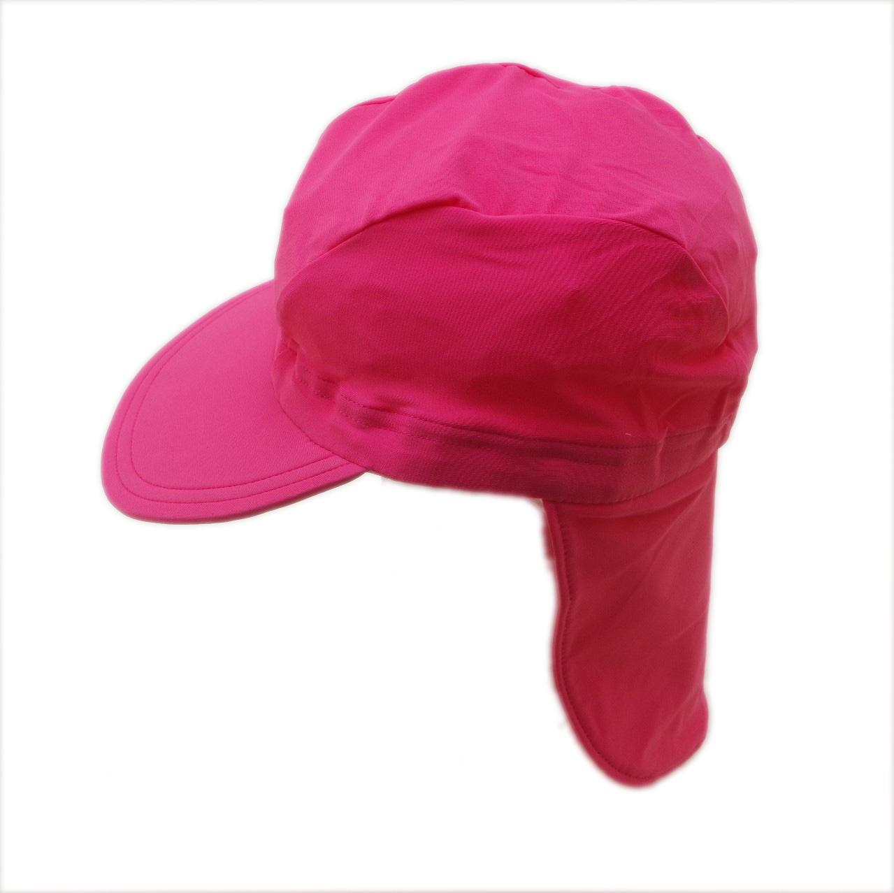 日よけ つば 付き スイムキャップ キッズ  水泳帽 ピンク (CAT-19-PK)
