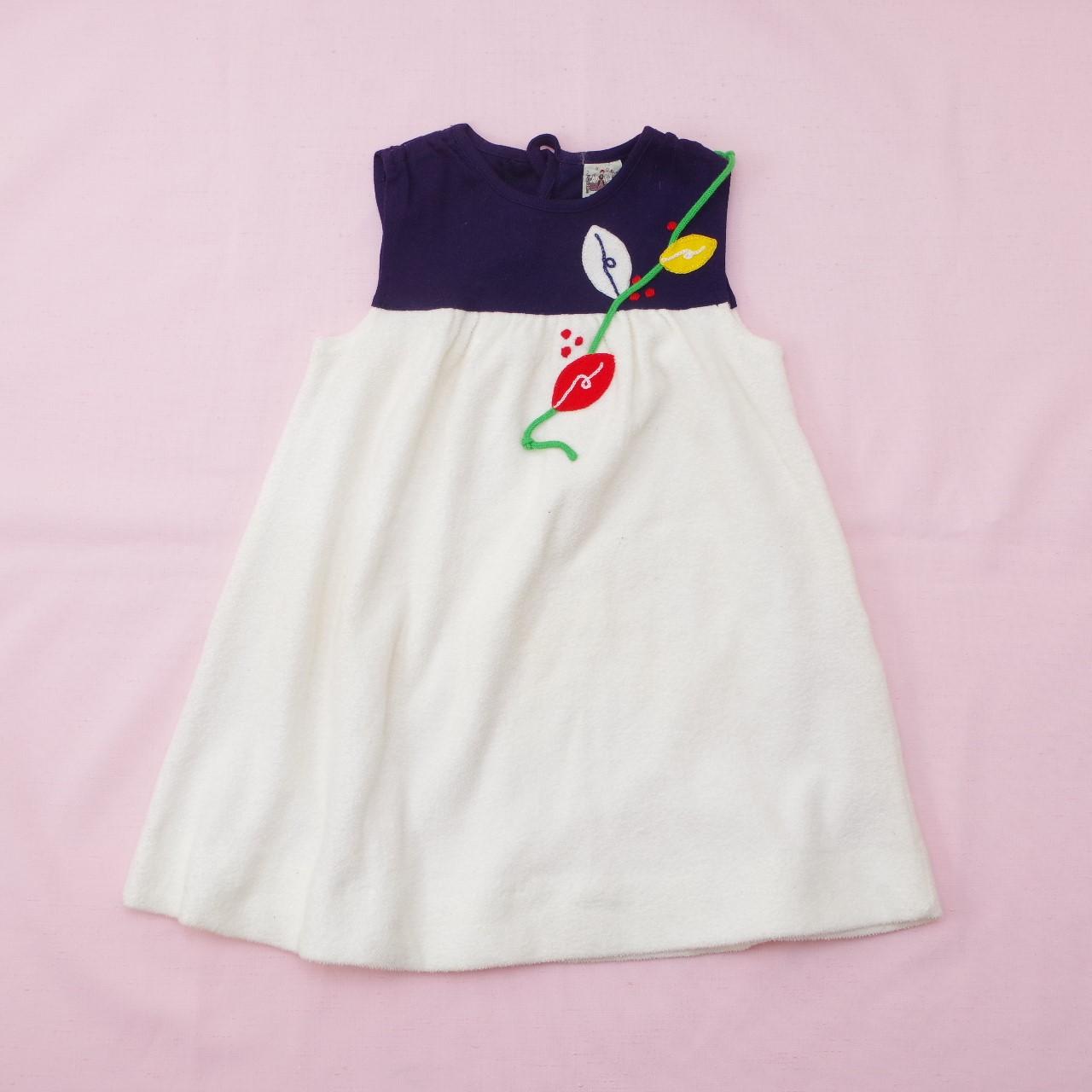 レトロ チャイルドの刺繍つき スカート 100cm (1905-2861)