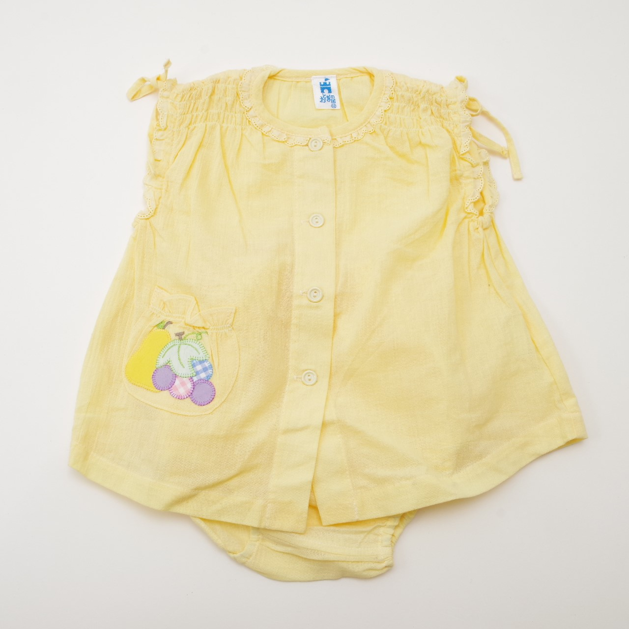 レトロ おとぎの国のお洋服スーツ 12か月 イエロー (1905-3200)