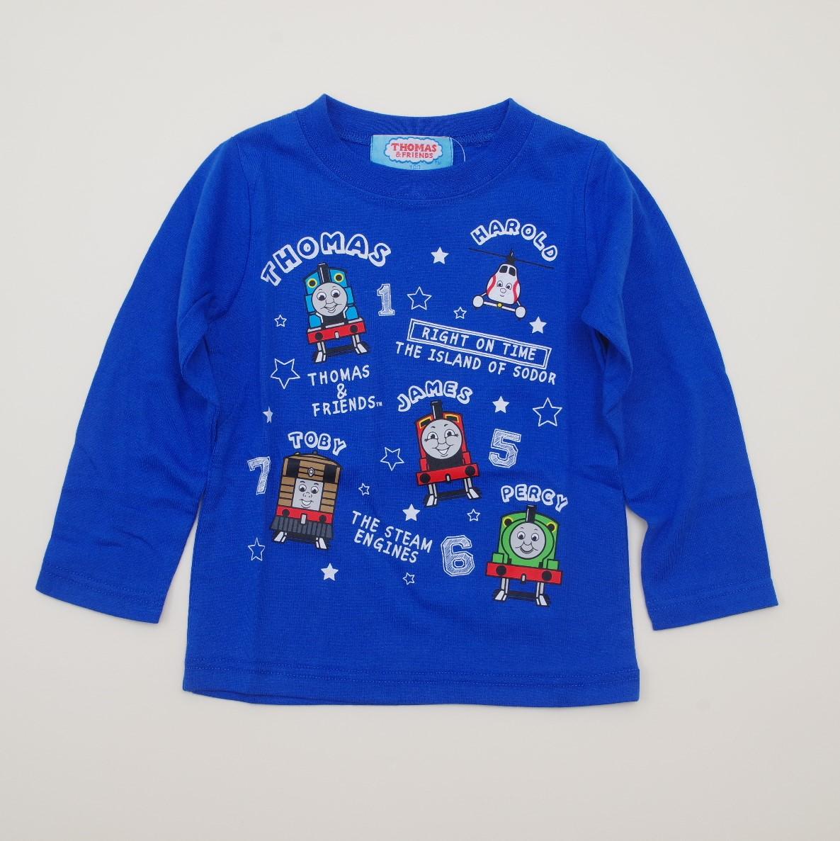 きかんしゃトーマス 長袖Tシャツ 100cm-120cm(943TM4011-BU)