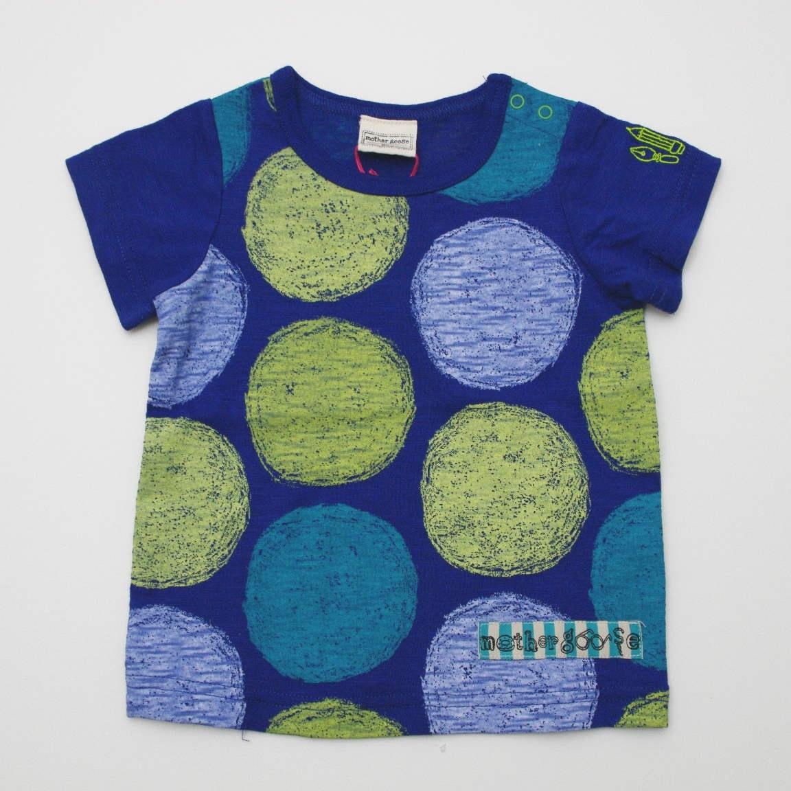 mother goose(マザーグース)半袖Tシャツ ブルー 80cm/90cm/100cm (11132-142)