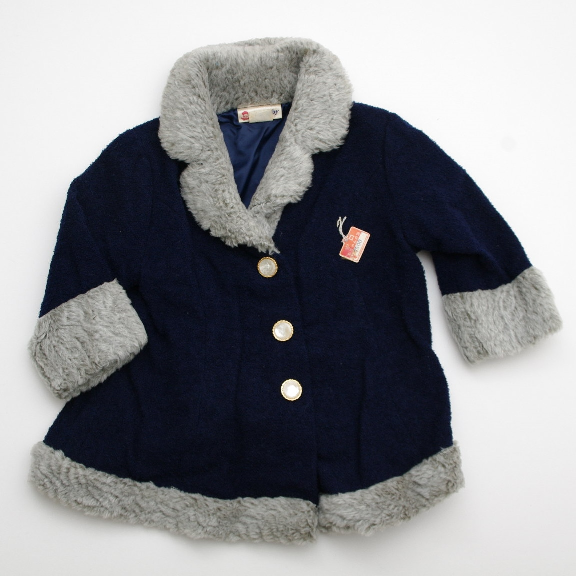 エンゼルベビーのコート 紺色2才 (K131442)