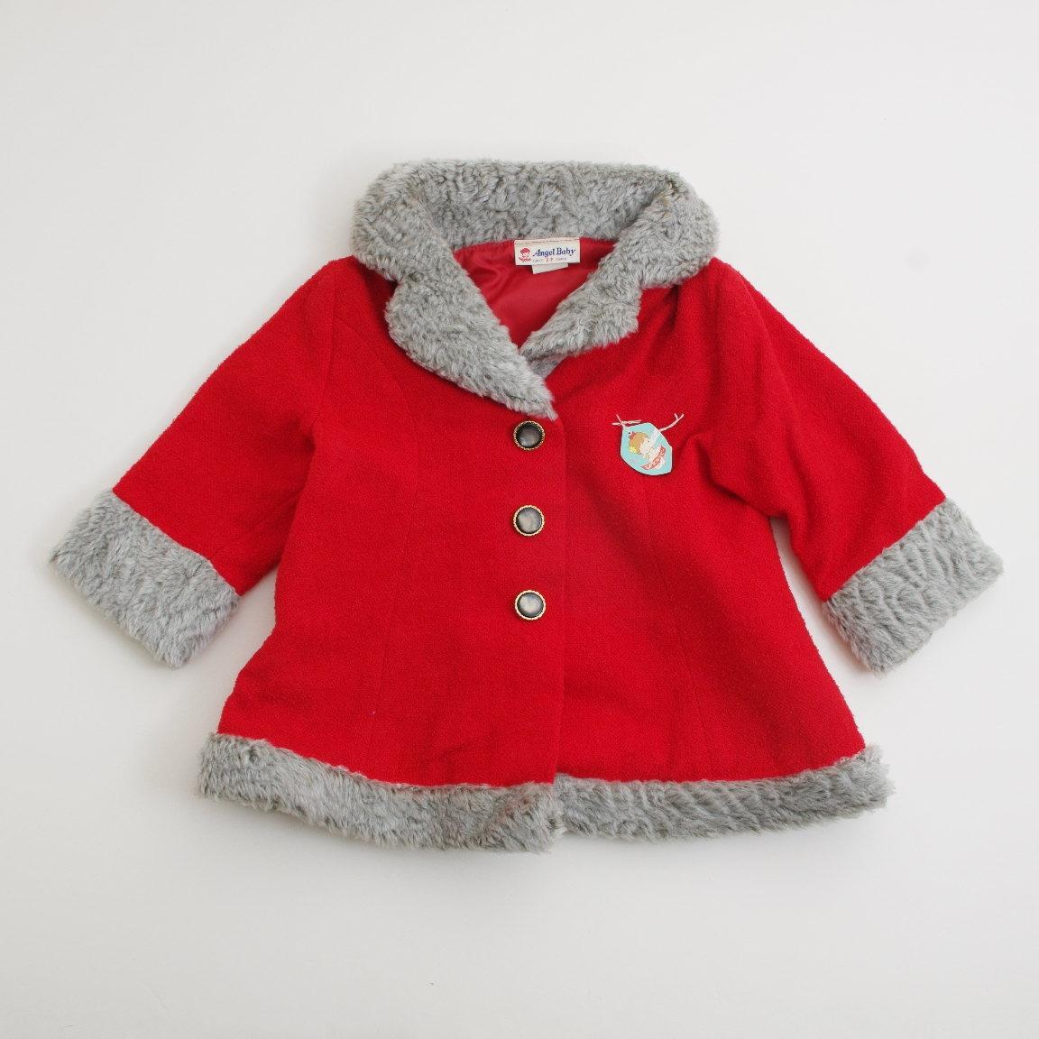 日本製 エンゼルベビーのコート 赤色 3才 (L152168-3)