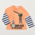 きかんしゃトーマス 長袖Tシャツ オレンジ 90cm-120cm(342166301-22)