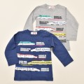 でんたま(新幹線) 長袖Tシャツ 90cm-120cm(041DT4011)