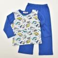 でんたま(新幹線) 光る長袖Tシャツパジャマ 蓄光 100-130cm (031DT108)