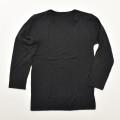 長袖  丸首シャツ 肌着 ブラック 140cm  (2002-1348)