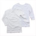 女児 8分袖  丸首シャツ 2枚組 肌着 110-160cm (2002-1363)