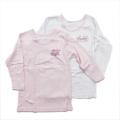 女児 8分袖  丸首シャツ 2枚組 肌着 100cm-120cm (2002-1366)