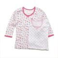 女児 8分袖  丸首シャツ 2枚組 肌着 100cm (2002-1370)