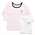 女児 8分袖  丸首シャツ 2枚組 肌着 100cm (2002-1373)