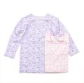 女児 8分袖  丸首シャツ 2枚組 肌着 100cm/130cm (2002-1377)