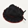 レトロ 日本製 帽子 ハット 女児 ブラック (2002-1399)