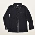 レトロ チャイルド 長袖シャツ 衿付き ヴラウス 120cm ブラック (2003-1467)