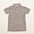 レトロ チャイルド 半袖シャツ 衿付き ヴラウス 120cm (2003-1476)