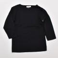 スクール 無地 長袖  Tシャツ ブラック 150cm(2003-1501)