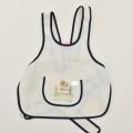 レトロ 子供 キッズ エプロン 2-5才用 アイボリーに紺  (2004-1828)