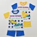 でんたま(新幹線) 半袖Tシャツ生地のパジャマ 90cm-130cm  (032DT0071)