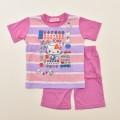 ハローキティ 半袖Tシャツ生地のパジャマ  100-130cm(032KT0071)