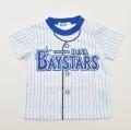 送料無料♪野球 球団 ニフォーム風 ベイスターズ 半袖Tシャツ   90cm/100cm (86180106)