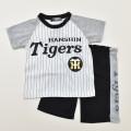 野球 球団 ニフォーム風 阪神タイガース半袖Tシャツ スーツ 90cm/95cm (66870306-C)