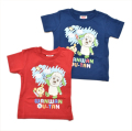 ワンワン&うーたんの半袖Tシャツ 80cm/90cm/95cm(55I024)