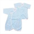 日本製 新生児  短 肌着 コンビ 50-60 cm 2点セット ボーダー  (7061-SX)