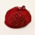 レトロ 日本製 帽子 レッド (2010-2942)